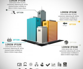 skyscrapers business infographic vector