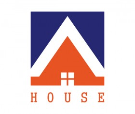 square house logo vector