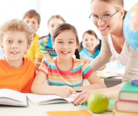 teacher who coaches students Stock Photo 02