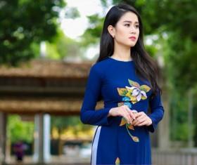 tender and beautiful Asian woman Stock Photo