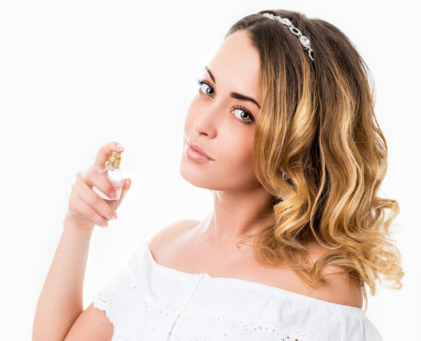 woman who sprays perfume Stock Photo 06