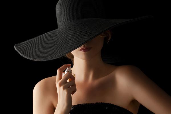 woman who sprays perfume Stock Photo 08