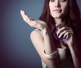woman who sprays perfume Stock Photo 10