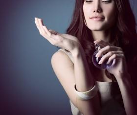 woman who sprays perfume Stock Photo 10