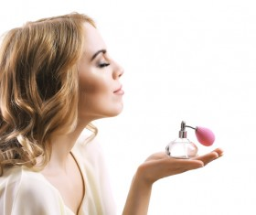 woman who sprays perfume Stock Photo 11