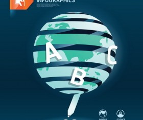 world educational information template design vector