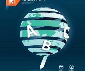 world educational information template design vector