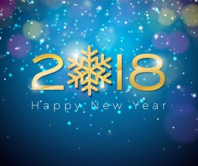 2018 new year colorful halation background vector