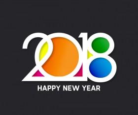 2018 new year dark blue background vector