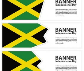 3 Kind jamaica banner template vector
