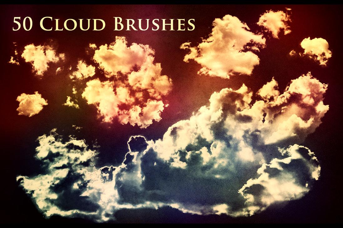 50 Cloud Photoshop Brushes