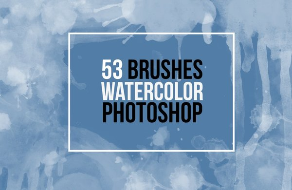53 Watercolor Photoshop Brushes