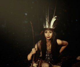 Aboriginal girl Stock Photo