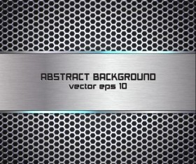 Abstract metal background vector material 01