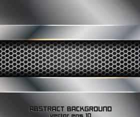 Abstract metal background vector material 02