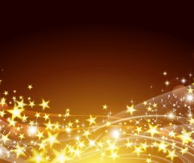 Abstract stars with brown background vectors