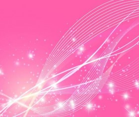 Abstract wavy lines with pink vector background