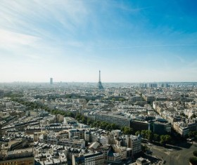 Aerial Paris City Stock Photo