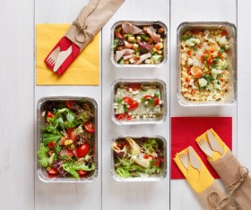All kinds of takeaway food Stock Photo 01