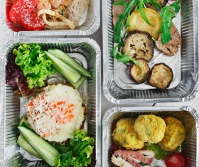 All kinds of takeaway food Stock Photo 03