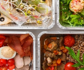 All kinds of takeaway food Stock Photo 04