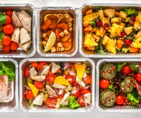 All kinds of takeaway food Stock Photo 05
