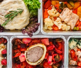 All kinds of takeaway food Stock Photo 06