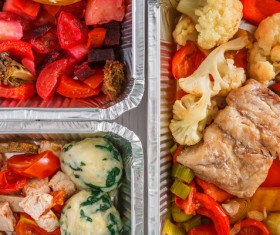 All kinds of takeaway food Stock Photo 07