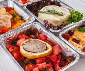 All kinds of takeaway food Stock Photo 08