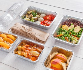 All kinds of takeaway food Stock Photo 09