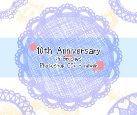 Anniversary vector - for free download