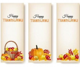 Autumn holiday banners vector set 01