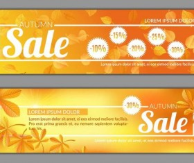 Autumn sale banner template vector