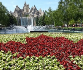 Beautiful city park Stock Photo
