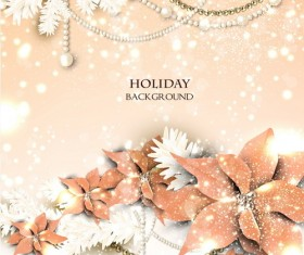 Beige holiday background christmas vector