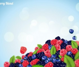 Berry blend background vector 01