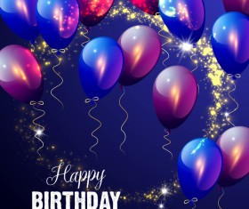 Birthday happy holiday with balloons vector