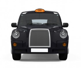Black Taxi Stock Photo
