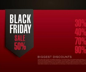 Black firday sale template red vector 03