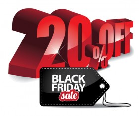 Black friday sale tag with discount vector 01