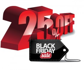 Black friday sale tag with discount vector 02