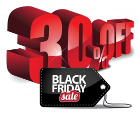 Black friday sale tag with discount vector 03