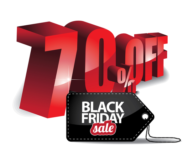 Black friday sale tag with discount vector 07