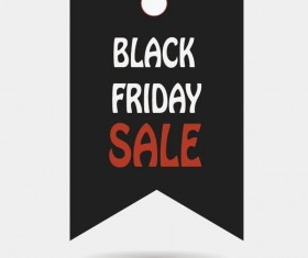 Black friday sale tags template vectors 01