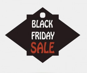 Black friday sale tags template vectors 03