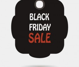 Black friday sale tags template vectors 05