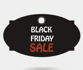 Black friday sale tags template vectors 06