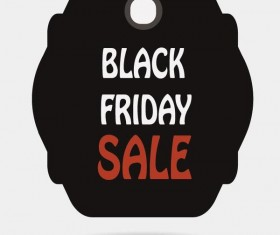 Black friday sale tags template vectors 07