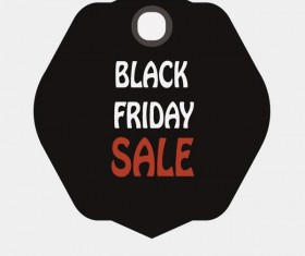 Black friday sale tags template vectors 08