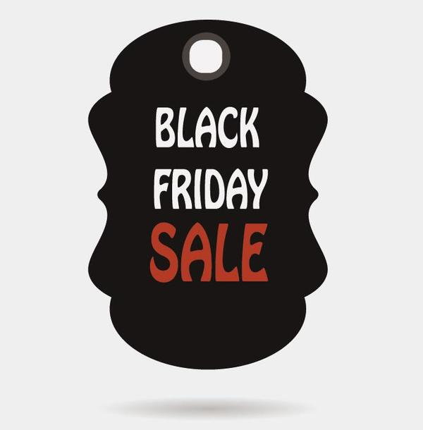 black friday sale tags template vectors 09